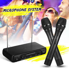 2in1 Professional Wired <b>Wireless Handheld Microphone Mic</b> ...