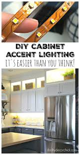 lighting above kitchen cabinets. thrifty decor chick diy upper and lower cabinet lighting above kitchen cabinets e