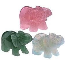 Top Plaza Natural <b>Rose Quartz</b> Gemstone <b>Carved Crystal</b> Elephant ...