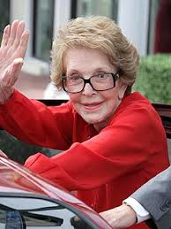 Former first lady Nancy Reagan has been hospitalized in Los Angeles with a broken pelvis, the Associated Press reports. Reagan, 87, fell at her Bel Air home ... - nancy_reagan