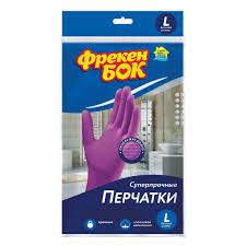Перчатки <b>хозяйственные Фрекен Бок</b> латекс L в Москве – купить ...
