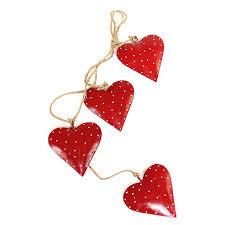 <b>Гирлянда подвесная EnjoyMe Red</b> Hearts, 4 шт.