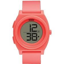 <b>Часы NIXON TIME TELLER</b> DIGI BRIGHT CORAL, купить, цена с ...