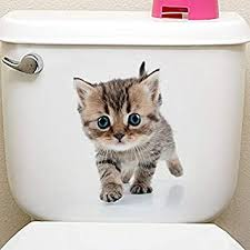 Buy Genuine Cats 3D Wall <b>Sticker Toilet Stickers</b> Hole View Vivid ...