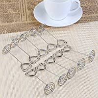 Pixnor <b>10pcs</b> Heart Swirl <b>Table Number</b> Photo Holder Stands for ...