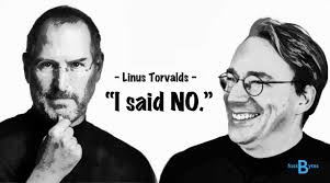 linux creator linus torvalds turned down steve jobs apple job offer steve jobs offered a job to linus torvalds at apple he said no