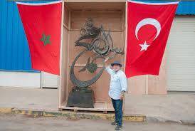 Tunuslu sanatçıdan Cumhurbaşkanı'na hediye