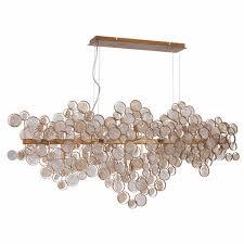 Подвесной <b>светильник Crystal Lux Deseo</b> SP15 L1400 Gold ...