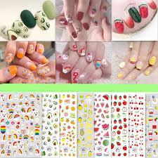 1Pc Summer Fruit 3D Nail Art Sticker summer fruit <b>Avocado Small</b> ...