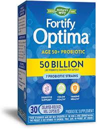 Nature's Way <b>Fortify Optima</b> 50 Billion Active HDS <b>Probiotics Adult</b> ...