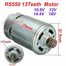 RS550 <b>13Teeth</b> Motor Replace for BOSCH GSR10.8-2-LI GSR10.8V ...