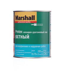 <b>Лак алкидно</b>-<b>уретановый</b> яхтный Marshall <b>Protex</b> бесцветный 0 ...