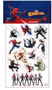 <b>Набор стикеров</b> Человек-паук 3 9,5х18,5 см купить <b>Marvel</b>(Марел ...