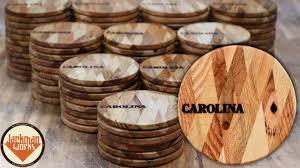Pallet Wood Coasters with <b>Diamond Pattern</b> (100 of them!) - YouTube