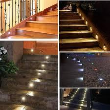 stairway lighting fixtures. 7colors 10pcslots indoor and outdoor led step stair lighting fixtures waterproof recessed in wall stairway a