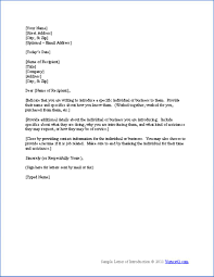 best photos of professional introduction letter sample s sample business introduction letter
