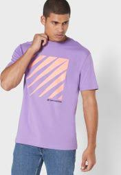 Buy New Balance Purple <b>Sportstyle Optiks T</b>-shirt for Men in Riyadh ...