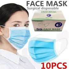 10 pcs Disposable 3-ply Earloop Anti-Dust Face Masks ... - Vova