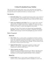 write critical essay format
