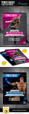 best images about gym advertisement business power energy fitness flyer template