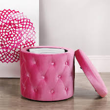 Pink Living Room Furniture Furniture Luxury Round Tufted Ottoman For Home Ideas Living Room