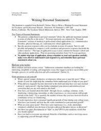 Personal Statement Example For Graduate School Education