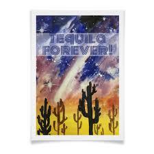 <b>Плакат A3</b>(<b>29.7</b>×<b>42</b>) Мексика + Текила = Космос #2336244 от ...
