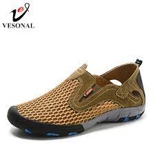 VESONAL Summer Style Male Mesh Shoes For <b>Men</b> Adult <b>Casual</b> ...
