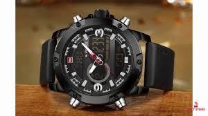 NAVIFORCE <b>Luxury Brand Men</b> Analog <b>Digital</b> Leather Sports ...