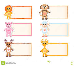 blank invitation template royalty stock photos image  set animal blank template for text lion giraffe sheep pig deer