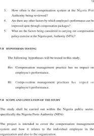 Adekoya Ismaeel Adeniyi Compensation management and Employees     DocPlayer net What are the factors being considered in carrying out compensation policy exercise at the Nigeria port