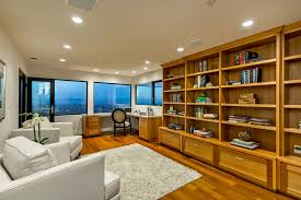 ultra modern office furniture home office modern with clear stained custom eucalyptus built office cabinets home