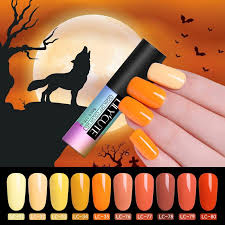 <b>LILYCUTE 5ml</b> Halloween Gel Nail <b>Yellow</b> Nail Gel Polish Witch ...