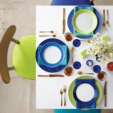 martha stewart living paint colors: color blocking ideas colorblocked table mld sq color blocking ideas