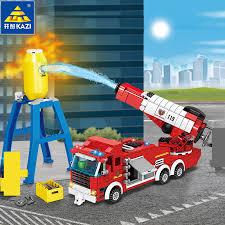 440Pcs <b>City Fire</b> Water Gun Car Building Blocks Sets <b>Firefighter</b> ...