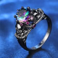 <b>ROMAD</b> Bird Shaped Ring Set Blue <b>Crystal</b> Cubic Zircon Rings for ...