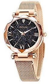 Jechin Fashion Women's Starry Sky Watch Rose Gold ... - Amazon.com