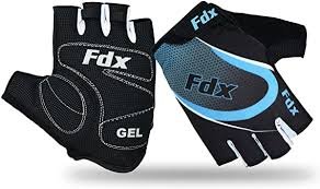 FDX <b>Cycling Gloves Half Finger</b> Gel Foam Padded Bike Fingerless ...