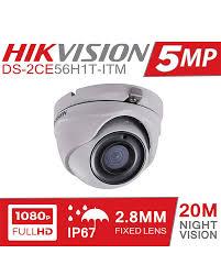 HIKVISION <b>5MP 1080p Full HD</b> Dome CCTV Network Camera Price <b>in</b>