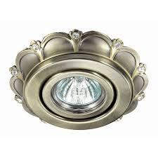 <b>Встраиваемый светильник Novotech</b> 370293, бронза — купить в ...