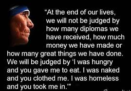 Image result for mother teresa, at the end of our lives