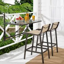Mainstays Crowley Park <b>3</b>-<b>Piece</b> Outdoor <b>Bar Set</b> with Fold-Down ...