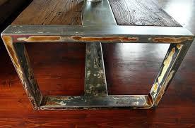 Handmade <b>Reclaimed</b> Wood & Steel Coffee Table - <b>Vintage</b> Rustic ...