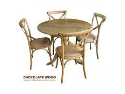 round back dining chairs nordic d 100cm stunning solid oak round dining table with