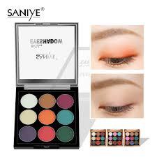 【SANIYE】<b>9 Colors</b> portable Waterproof Matte <b>Eye</b> Shadow Palette ...