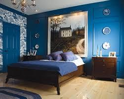 dormitorio vintage azul