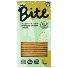 «<b>Bite Хлебцы</b> хрустящие <b>кукурузно</b>-<b>рисовые</b> с луком 150 г ...