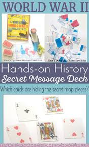 best ideas about world war timeline history world war ii hands on history make a secret message deck