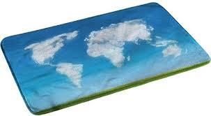 World Map Anti-Skid Rubber Backing Bathroom Rugs ... - Amazon.com