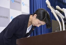 abe accepts meti chief obuchi s resignation over funds scandal trade and industry minister yuko obuchi announces her decision to resign over a political funds scandal